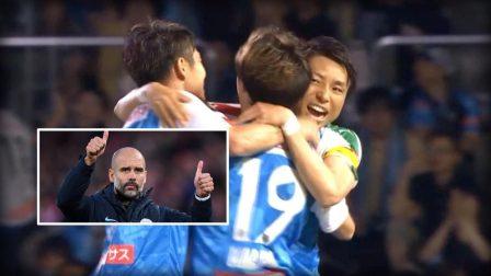 日本联赛Tiki-Taka神球!19脚传递美如画 瓜帅看了也得鼓掌