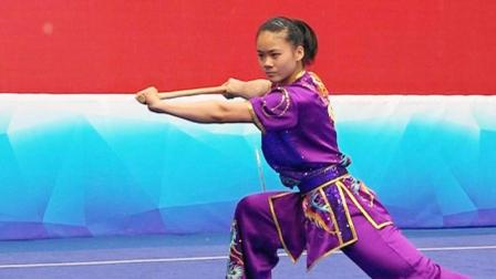 2018年全国青少年武术套路锦标赛 B组 女子南棍 013 沈娜娜(江苏)第三名