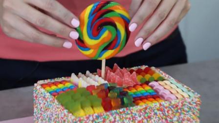 解锁生日蛋糕新玩法:把它做成高颜值糖果盒!甜品爱好者的福利呀