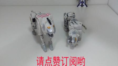 197期模玩分享灵动百兽战队dx白虎王