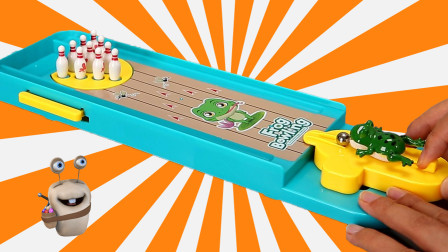 青蛙保龄球 亲子互动游戏玩具