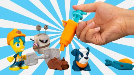 多彩建筑工地 培乐多彩泥橡皮泥玩具
