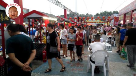 夏季夜市大排档各种小吃集合,味道一般但是价格偏高意义何在?