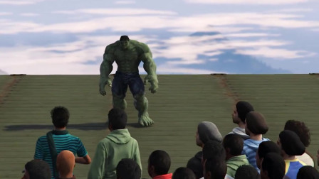 GTA5:打上绿巨人mod是什么样的?