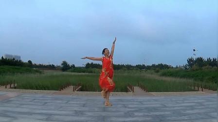 贞贞广场舞《绿色青鸟》编舞:午后骄阳