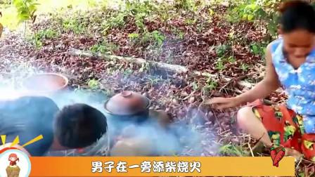 农村夫妻下山觅食,意外发现乌龟蛋,偷走拿来直接煮着吃