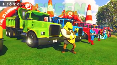 儿童音乐儿歌 挖土车动画片 大卡车认识颜色