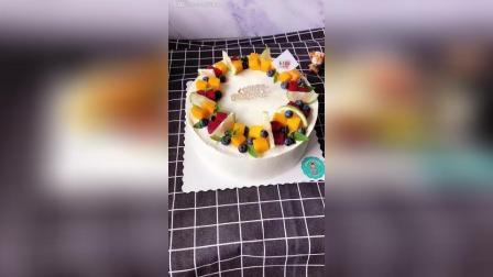 十寸, 水果蛋糕, 简约, 好吃