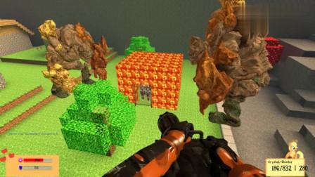 GMOD游戏迪迦奥特曼的岩浆房子能挡怪兽吗?