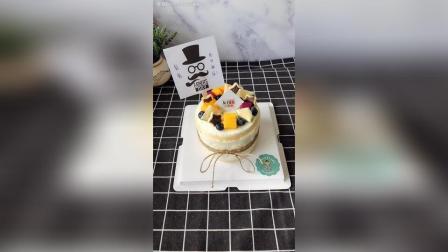 5寸水果裸蛋糕客户送给爸爸的, 祝您生日快乐