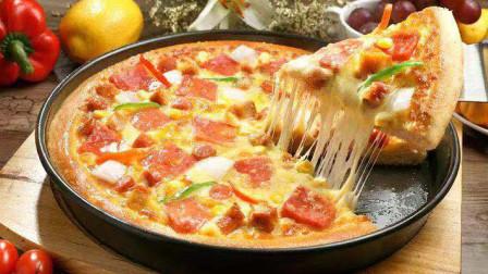 8块钱做了10寸的披萨,外酥里软,拉丝长,新手也能做,比买好吃