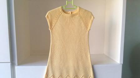 女童A版背心裙,由上往下编织,简单大方,好学易织编织图案及方法