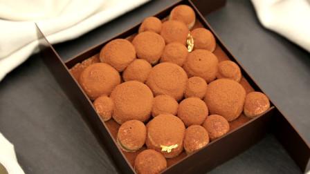 甘纳许慕斯蛋糕: 简单凹造型,巧克力装饰片练习