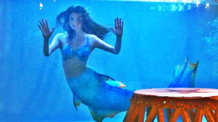 小美人鱼被诱骗到马戏团,当怪物表演挣钱,人鱼变出大长腿逃往大海