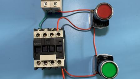 电工知识:接触器自锁不会接线,小豆一根线一根线的教你接线