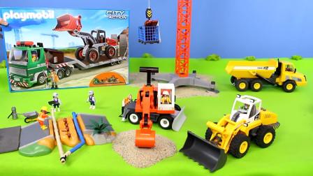 120-3儿童玩具挖掘机频道工程施工现场