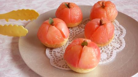 这是我见过最能折腾的苹果新吃法啦!做成高颜值奶油泡芙,很美味