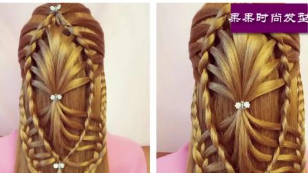 一款非常时尚小姑娘的发型,时尚编发教程一步一步教