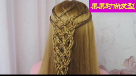 更显女神气质的一款发型,时尚编发教程一一步一步教