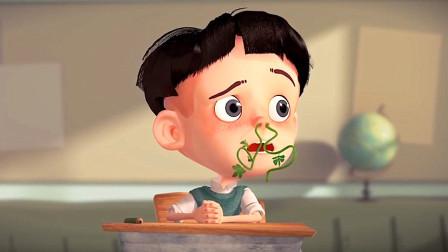 小男孩不听话吃了西瓜种,第2天,鼻子长出了西瓜茎