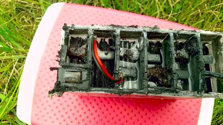 电动车电瓶到底能不能修复,小伙拆解电瓶告诉你