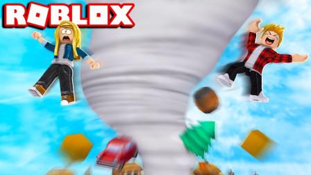 Roblox虚拟世界面面解说 第一季 面面解说自然灾难模拟器!龙卷风袭来瞬间把我吹飞?