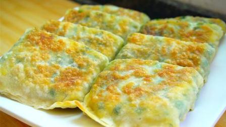 韭菜馅饼新做法,一擀一卷,不破皮不露馅,层层美味,简单又好吃