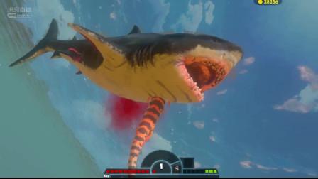 蝾螈疯狂走位战白鲨 海底大猎杀 生存模拟单机游戏