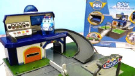 变形警车珀利交通指挥控制塔玩具