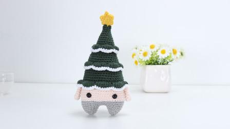 圣诞树玩偶diy编织手工教程编织方法图