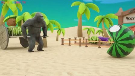 大猩猩你要淡定,我不是大西瓜!我是吃豆人啊!游戏