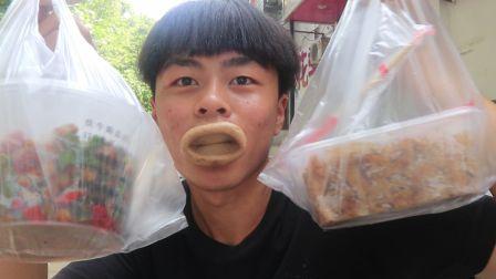 郑州特色美食,葛记焖饼百年老店,小伙沦落到街头试吃