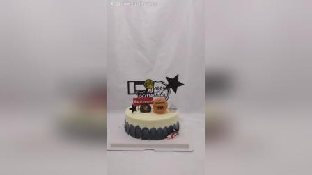 一款属于男生的蛋糕, 篮球蛋糕!