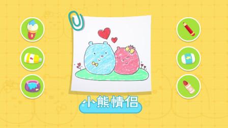 猫小帅故事 小熊情侣简笔画