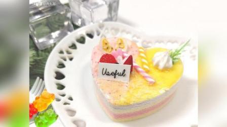 爱心莓果手工蛋糕制作