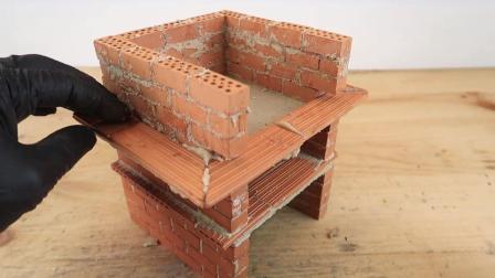 如何用迷你砖建立一个微型比萨烤箱