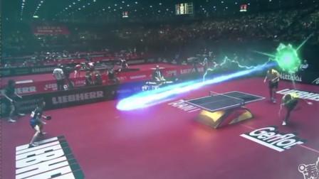 涛涛大 打不过也要炫酷一下,日本用特效拯救乒乓球!
