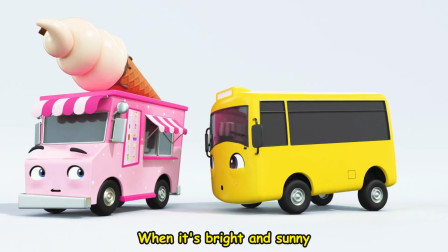 宝宝喜欢的汽车英语儿歌 Buster Ice Cream Song