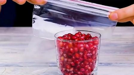 不用榨汁机也能喝到果汁,操作简单极了!
