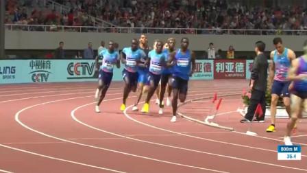 800米短跑特刺激,黑人选手耐力太强了,中国选手虽败犹荣