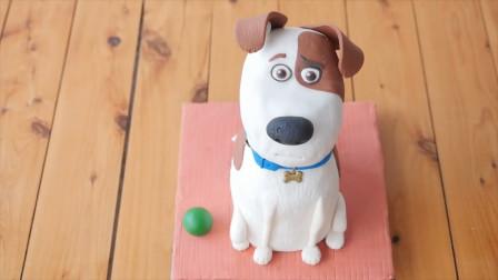 属狗的宝宝看过来!美味的小狗翻糖蛋糕,简单易学手残党都能做