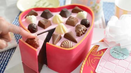 能吃的心形巧克力盒你见过吗?其实是牛人做的翻糖蛋糕,创意满分