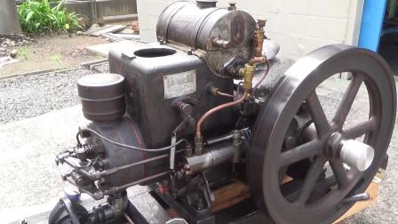 启动一台古董柴油发动机,这质量真是没得说