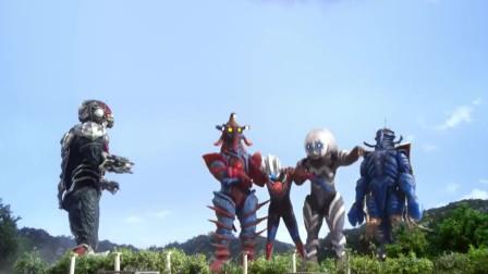 奥特曼:欧布大战厉害外星人,不料出现三个外星人,一下击趴他