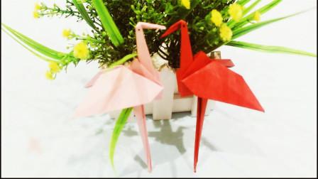 儿童手工折纸创意DIY折纸火烈鸟 折纸大全