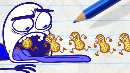 阿呆遇上姜饼人 会发生怎样的故事呢?铅笔画小人游戏