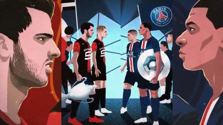 法国超级杯动漫版热血预告 巴黎雷恩复仇大战一触即发!