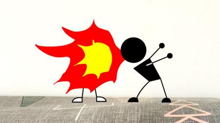 火柴人动画:爆肝800张,有灵魂的打斗是什么样的?