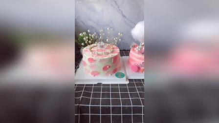 8寸皇冠闺蜜生日蛋糕6寸独角兽女孩生日蛋糕