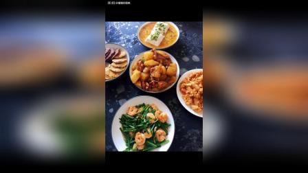 韭苔虾仁豆腐鸡蛋虾虾头自制燕麦饼干 土豆鸡块